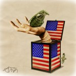 """USA's  """"Jack in the box""""/ Caja sorpresa de EEUU. José María Tortosa. Diario Información. 2011"""