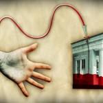 Citizien's blood to The Bank/ Sangre ciudadana para la Banca. José María Tortosa. Diario Información. 2012