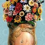 Women as a vase/ Mujer florero.  Pilar Garcés. Diario de Mallorca. 2013