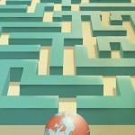 Earth in labyrinth/ La tierra en un laberinto. Jose Maria Tortosa. Diario Información. 2014